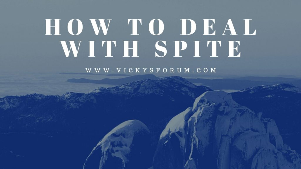Dealing with spiteful words and actions