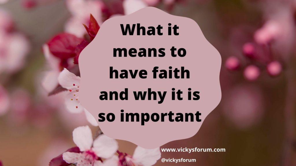 Faith in God is important