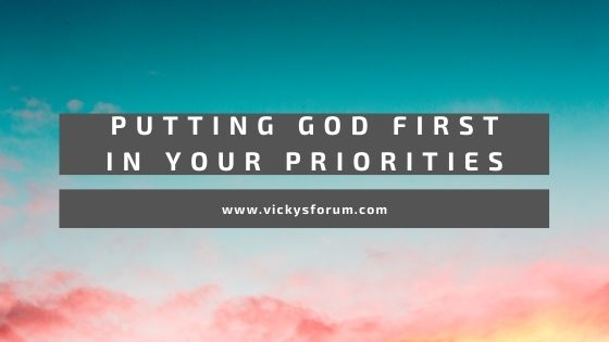 Why you need to put God first