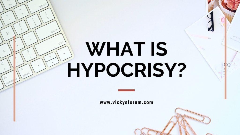 Hypocrisy in the world