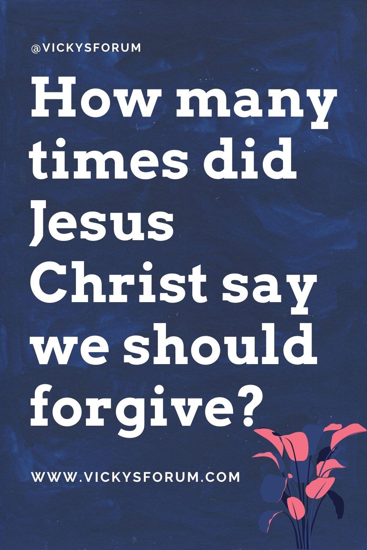 Forgive 70 times 7